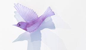 Lukeke - Cast glass birds