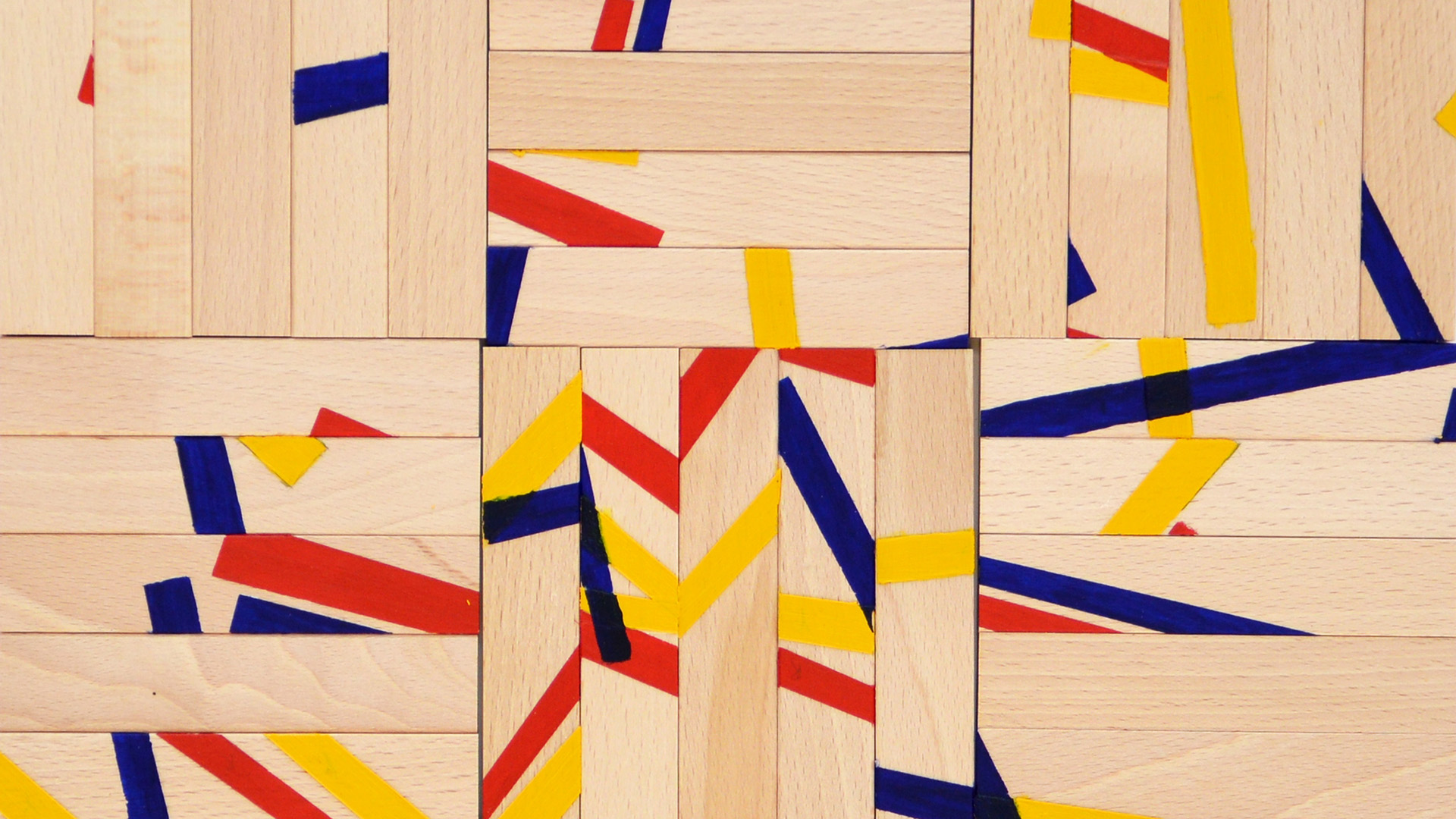 Arthur Wong 'Resemble - Fragments and Order' March 2015 wood, acrylic paint, MDF board 52 x 52 cm_main